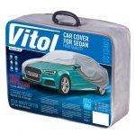 Чехол-тент для автомобиля Vitol CC13401 размер M серый с подкладкой (CC13401-M (5))