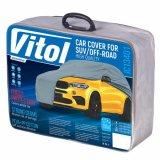 Чехол-тент для автомобиля Vitol JC13401 размер L на джип/минивен серый с подкладкой (JC13401-L (4))