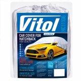 Чехол-тент для автомобиля Vitol HC11106 размер 3XL Hatchback серый