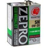 Моторное масло Idemitsu Zepro Eco Medalist 0W-20 4л.