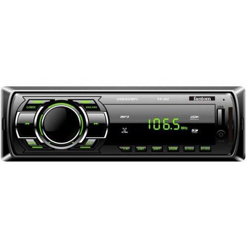 Автомагнітола Fantom FP-302 Black / Green