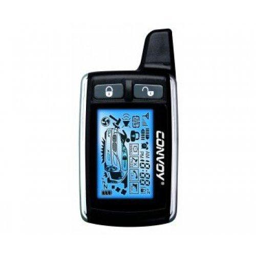 Брелок 5-ти кнопочный двухсторонний с LCD-дисплеем для автосигнализации Convoy MP-200