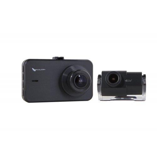 Двухкамерный автомобильный видеорегистратор Falcon DVR HD75-2CAM