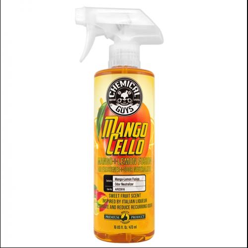 Ароматизатор Chemical Guys мангочелло Mangocello Mango Lemon Fusion Air Freshener + Odor Neutralizer 473 мл.