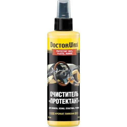 Очиститель «Протектант» для винила, кожи, пластика, резины (аромат лимона) DoctorWax 236 мл.