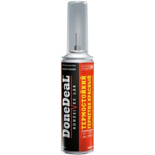 Термостойкий герметик DoneDeal - формирователь прокладок силиконовый (красный) 226 г