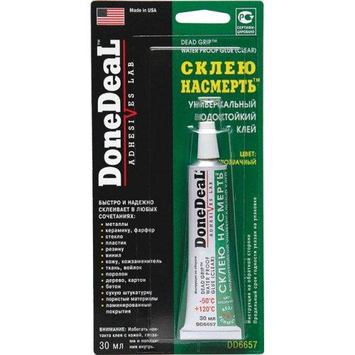 Водостойкий универсальный клей DoneDeal «Склею насмерть» (цвет: прозрачный) 30 мл.