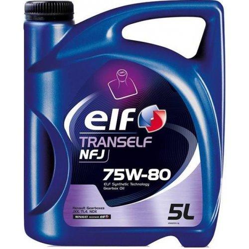 Трансмиссионное масло Elf Tranself NFJ 75W-80 5л.