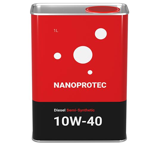 Моторное масло Nanoprotec 10W-40 Diesel Semi-Synthetic 1л.