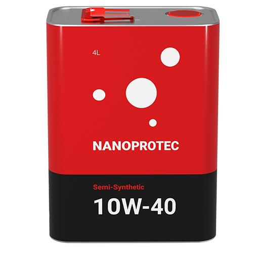 Моторное масло Nanoprotec 10W-40 Semi-Synthetic 4 л