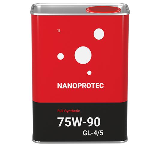 Трансмиссионное масло Nanoprotec 75W-90 GL-4/5 Full Synthetic 1л.