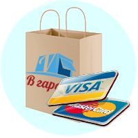 Оплата картами Visa и Mastercart любого банка Украины